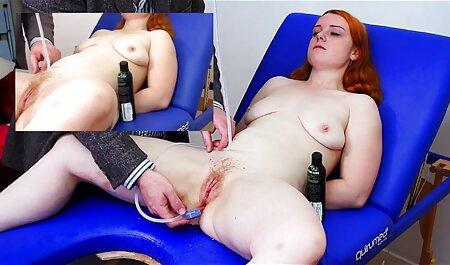 Masturbación genital en aceite, un esposo con un miembro de una esquilada fomentar la vagina engrasada y anal de su veteranas colombianas follando esposa Gülesen